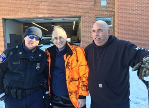 Frank Storch (center), founder of the Chesed Fund, and others in the Jewish community pulled out all the stops to prepare for the historic storm Jonas. (Provided)