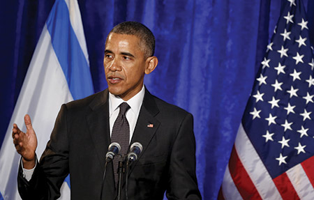 "President Barack Obama: ""We're called to live in a way that shows that we've actually learned from our past. And that means rejecting indifference."" (AUDE GUERRUCCI/UPI/Newscom)"