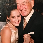 Edward Attman, with his granddaughter, Sarah Rose Attman, at her bat mitzvah.