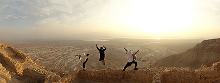 """""""Sunrise at Masada"""" by Toby Cohen"""