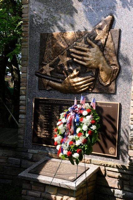 Memorial Day; monument at Circle of the Immortals, Dulaney Valley Memorial Gardens