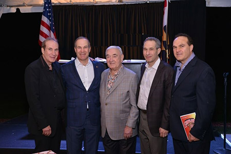Edward Attman, center, with his four sons (from left) David, Gary, Ron and Steven attman. (Provided)