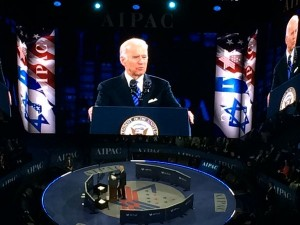 VICE PRESIDENT JOE BIDEN DEFENDS THE IRAN NUCLEAR AGREEMENT AT THE AIPAC POLICY CONFERENCE. PHOTO BY MELISSA GERR.