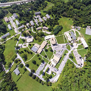 Aerial shot of the Ner Israel Rabbinical College campus in Owings Mills, where the school moved in 1970 (Eli Greengart)