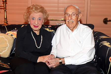 Louis and Edith Bluefeld married Feb. 23, 1941 and just celebrated their 75th wedding anniversary. They live in Boca Raton, Fla., after several decades living, and working, in the Baltimore area. (Photos provided)