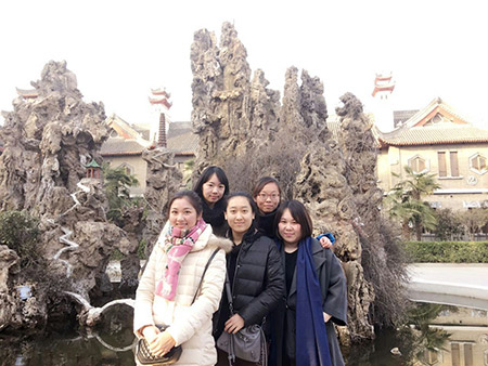 From left: Li Yuan, Yue Ting, Gao Yichen, Li Jing and Li Chengjin