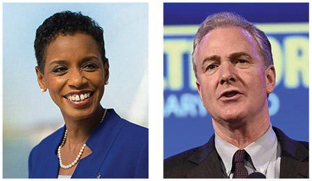 Rep. Donna Edwards (left) and Rep. Chris Van Hollen ( Photo credits: donnaedwardsforsenate.com; vanhollen.org)