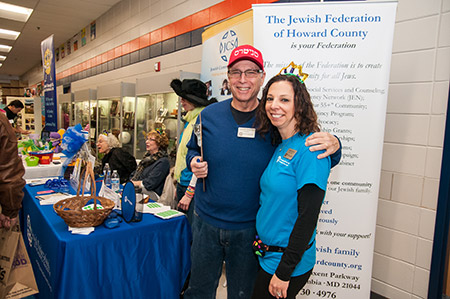 Purim Palooza is known as the one event that brings the Howard County Jewish community together, including Federation president Richard Schreibstein and executive director Michelle Ostroff. (Provided)
