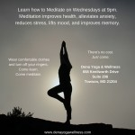 Dena Yoga Wellness -Wednesday Meditation Class