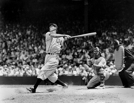 Hall of Famer Hank Greenberg was a star for The Detroit Tigers. This photo is from 1935. (TSN Archives/Getty Images)