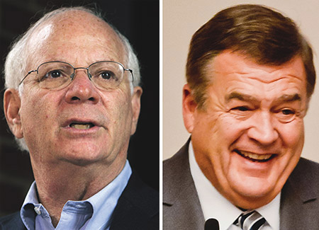 Sen. Ben Cardin (left) and Congressman Dutch Ruppersberger recently met separately with Israeli Prime Minister Benjamin Netanyahu and other Middle East diplomats. (File photos)