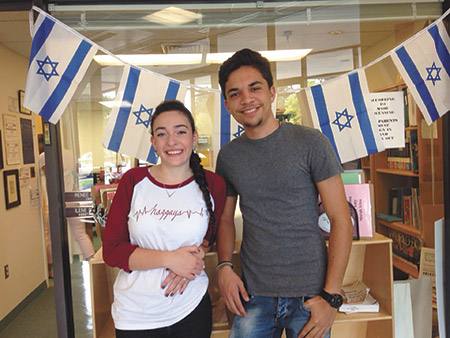 Yuval Sadon (left) and Matan Adar are surprised by the similarities of the United States and Israel. (Provided)