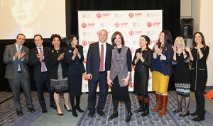 Ministry of Diaspora Affairs director general Dvir Kahana (fifth from left) and Jewish Women's Renaissance Project founding director Lori Palatnik (fifth from right) attended a March 20 reception announcing the expansion of the Momentum trip program for Jewish mothers going to Israel. (Provided)