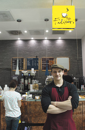 Cladiu Onigoaie has a history of brewing and enjoying high-quality coffee. As a manager, he takes pride  in Filicori Zecchini's product. (Justin Katz)