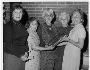 Levindale volunteers, including Eunice Heyman, receive an award, circa 1980. (Courtesy of the Jewish Museum of Maryland, 2011.29.276)
