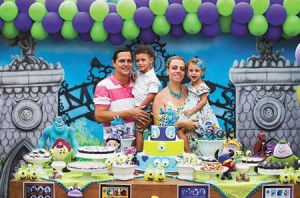 "Eduard and Mariana Zagury held a third birthday party for their twins, Gabriel and Daniela, at a fancy ""party house"" in Rio, but they chose the venue for its innovative educational approach.  ("