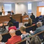Rabbi Velvel Belinsky testifies at a Baltimore County Board of Appeals hearing. (Marc Shapiro)