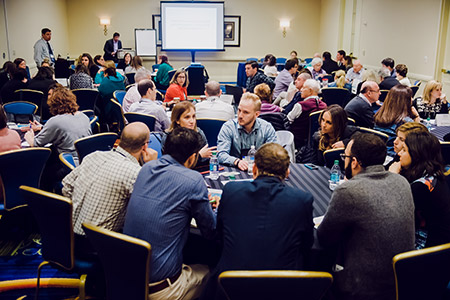 At breakout sessions, JCC biennial attendees shared successes and challenges and exchanged ideas with colleagues from around the world. (Photo by David Stuck)