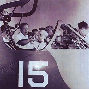 Al Schwimmer (left) and David Ben-Gurion (Provided)