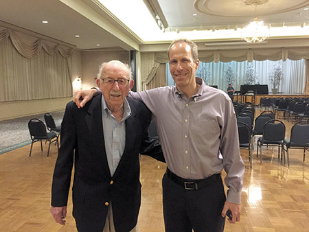 Harold Rothstein (left) and Boaz Dvir (Photo by Hanna Monicken)