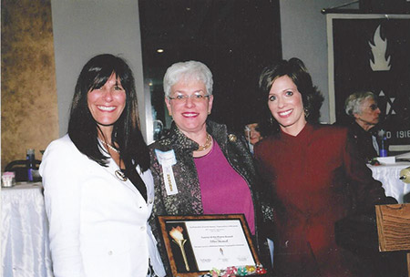 From left: Eve Vogelstein, Helene Waranch and Deborah Weiner at the 90th annual convention in 1996. (Courtesy of The Federation of Jewish Women's Organizations of Maryland)