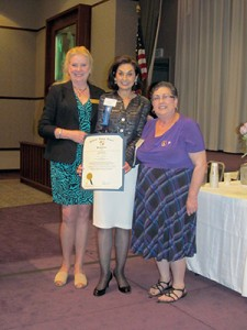 Baltimore County Councilwoman Vicki Almond, Ellen Lightman, 2013 E.B. Hirsh award winner, Harriet Meier, 2013 president. (Courtesy of The Federation of Jewish Women's Organizations of Maryland)