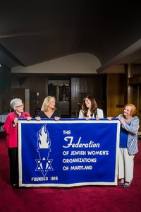 From left: Incoming president Helene Waranch, 2016 convention co-chairs Lynda Weinstein and Eve Vogelstein and current president Sheila Derman. (Photo by David Stuck)