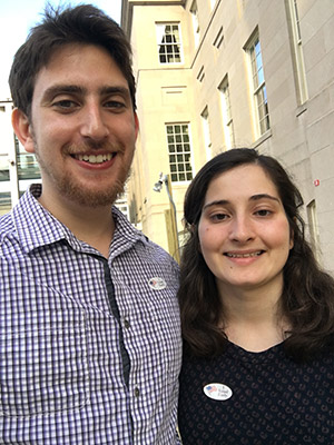 District resident Linda Benesch and her boyfriend posted this photo of themselves returning from early voting to encourage their friends to do the same. (Provided)
