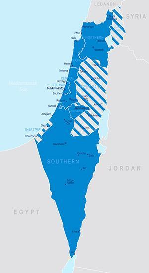 Map of Israel (©iStockphoto.com/pop_jop)
