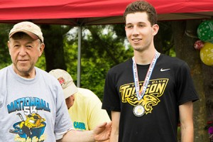 Temple Isaiah hosted its 12th annual Matzohball 5K and 1-Mile Fun Run on Sunday, June 5 at Centennial Park in Ellicott City that benefited DreamBuilders, Grassroots Crisis Intervention, HopeWorks of Howard County and Temple Isaiah. Pictured (from left) is congregant (Provided)
