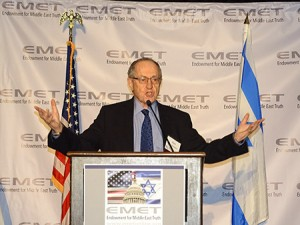 Alan Dershowitz said that by his calculation, Israel should be 196th in line for a boycott.(Jared Feldschreiber)