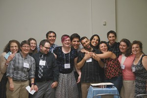 Jews United for Justice's Baltimore  Jeremiah Fellows (include (from left) Amanda Kushner, Sara Zisow-McClean, Lizzy Solovey, Gregory Friedman, Micah Brosbe, Rachel  Kassman, Sam Novey, Gabriel Pickus, Lisa Firnberg, Gracie Greenberg, Elad Firnberg, Adina Potter Yoe and Ellen Brown. The  participants took part in an eight-month program in which they learned about  Baltimore through the lens of Judaism and justice; studied Jewish texts,  traditions and history; and developed organizing and activism skills. (Bruria Hammer Photography)