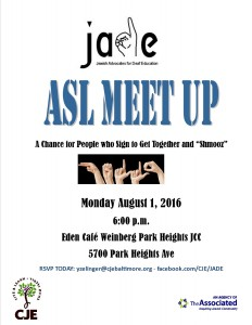 ASL meet up flyer August 2016