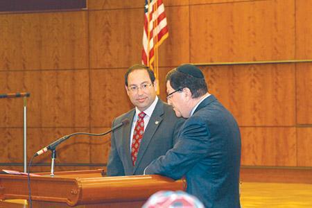 Jason Blavatt (left) with Rabbi Ron Shulman (provided)