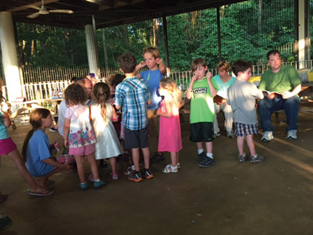 Bet Chaverim Congregation held its annual Shabbat Under the Stars program at Lake Elkhorn in Columbia on July 15. The family-friendly Friday night service featured picnics, star-themed crafts, storytelling and kids' activities. (Provided)