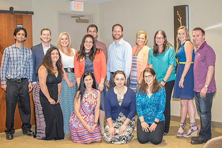 The Jewish Federation of Howard County's  jLEADS class of 2016. Back row, from left: Marc Kessler, Jeremy  Goldman (jLEADS Chair), Randi Leshin, Michael Drob, Eric McCormcik, Sara Magden, Allison Miller, Erica Zoren and Todd Zoren; middle row:  Whitney Gordon (left) and Federation associate director Meghann Schwartz; front row, from left: Allison Goldman, Janet Dashevsky  and Kaitlin Woskoff. Not pictured: Erica Bergstein. jLEADS is the  federation's young leadership program. (Provided)