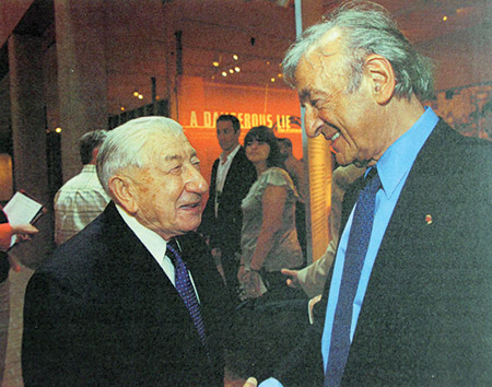 "Morris Rosen (left), a Baltimore Holocaust survivor, says it's an honor that Elie Wiesel called him ""dearest friend Morris."""