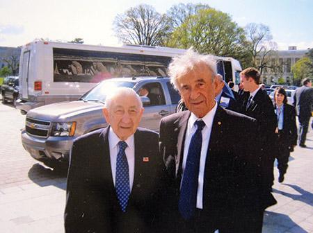 Morris Rosen (left) and  Elie Wiesel (Photo provided)
