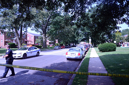 Last week's standoff closed Reisterstown Road from Seven Mile Lane to Labyrinth Road and some surrounding streets. (Adam Barry)