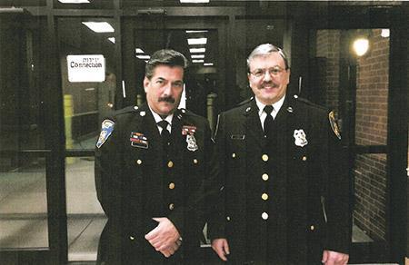 Ken Dickstein with his partner, Officer Sam Bennett (Provided)