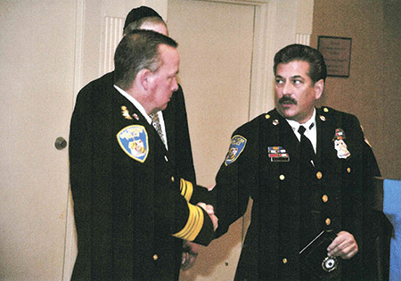 Dickstein with Baltimore Police Commissioner Kevin Davis (Provided)