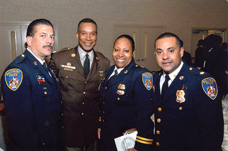 Ken Dickstein is joined by fellow officers, including former Northwest Division Majors Sabrina Tapp-Harper (second from right) and John Delgado (right).