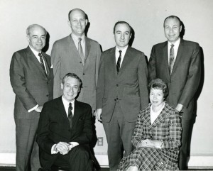 Pictured are staff or board members of Jewish Family and Children's Services in 1957. (Courtesy of the Jewish Museum of Maryland, 1995.142.34.2)