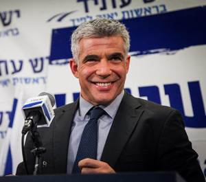 Yair Lapid, pictured here in 2013, says he plans to meet with Jewish Democratic members of Congress. (File photo)