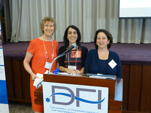 From left: Cindy Goldstein, executive director of the  Darrell D. Friedman Institute for Professional Development at the Weinberg Center, Lara Nicolson, DFI board member, and Joanne Gold, vice chair of DFI, opened JPRO DAY, a workshop for Jewish communal professionals, earlier this month. This year's program focused on the  opportunities and challenges of workplace diversity and inclusion. (Provided)
