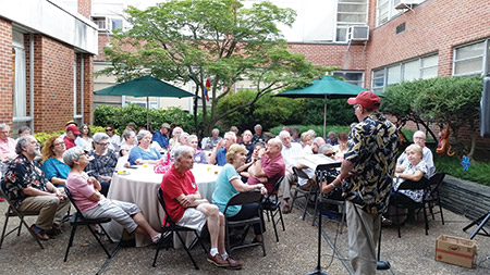 Baltimore Hebrew Congregation's Summer Nights on Park Heights current-event series treated attendees to live music and discussion in the congregation's courtyard for four nights in July (provided)