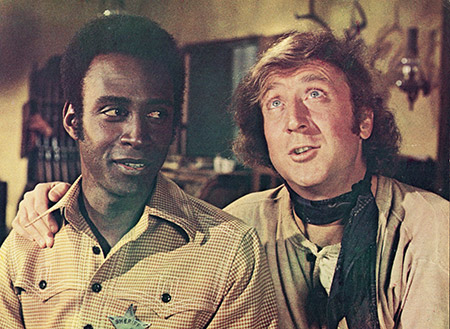 """Gene Wilder starred with Cleavon Little in the 1974 comedy """"Blazing Saddles."""" (Warner Bros./Courtesy of Getty Images)"""