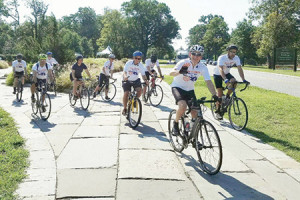 """Ride for the Over Ride"" participants leave Druid Hill Park on Aug. 20 (Provided)"
