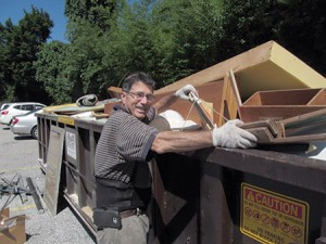 """Members of Ner Tamid Greenspring Valley Synagogue  held a """"big clean"""" event on Sunday, Aug. 7, in which congregation  members took part in prayer, food and learning before cleaning the synagogue from mid-morning through mid-afternoon and burying  old prayer books. Ken Caplan is pictured. (provided)"""