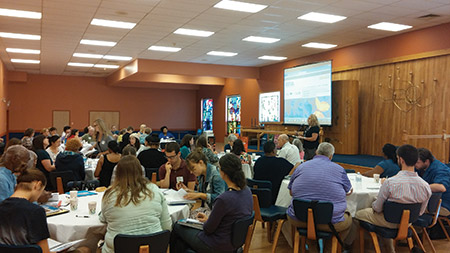 More than 45 teachers took part in this year's Summer Teachers Institute, which gives partipants the tools they need to effectively teach about the Holocaust. (Justin Silberman)